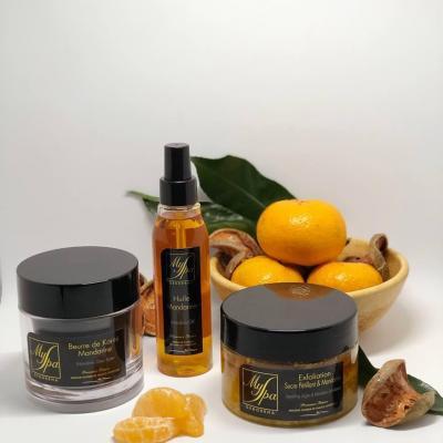 Produits corps mandarine